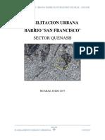 Memoria Descriptiva habilitación urbana