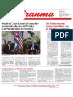 Diario Granma. 5 de junio de 2018.