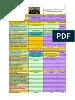 event schedule 2018