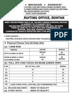 Rohtak Rally Notification 2018