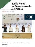 04-02-2017 Héctor Astudillo Conmemora Centenario de La Constitución Política.