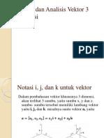 Vektor Dan Analisis Vektor 3 Dimensi Nn
