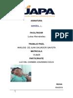 Guía Para El Anàlisis de Juan Salvador Gaviota Trabajofinal de Luz Español 2