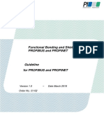 Functional Bonding and Shielding of PROFIBUS