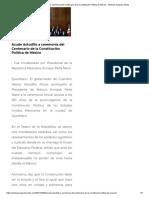 05-02-2017 Acude Astudillo a Ceremonia Del Centenario de La Constitución Política de México.