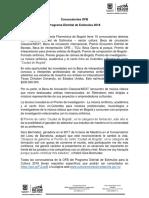 OFB - Comunicado Programa Distrital de Estímulos 2018