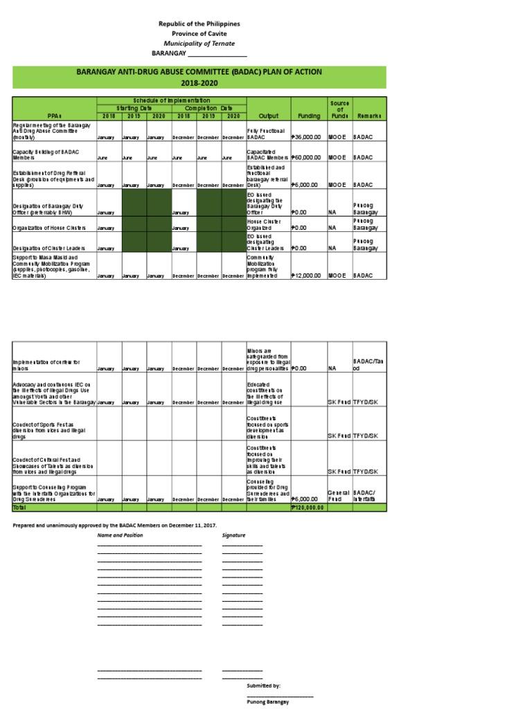 Badac Sample Format 2018 | Public Sphere | Government