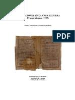Casa Ezcurra Primer Informe