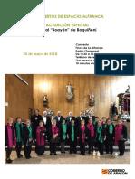 Programa Concierto Especial 20 de Mayo. CORAL BOAYÉN de Boquiñeni. A4