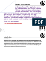 One Shock Theatre - Arts Council Application