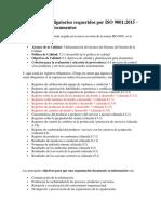 Documentos obligatorios requeridos por ISO 9001.docx