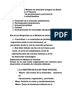Características Modelo de Atención Integral en Salud