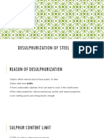 Desulphurization of Steel