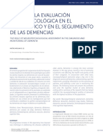 Evaluacion Neuropsicologica en Demencias