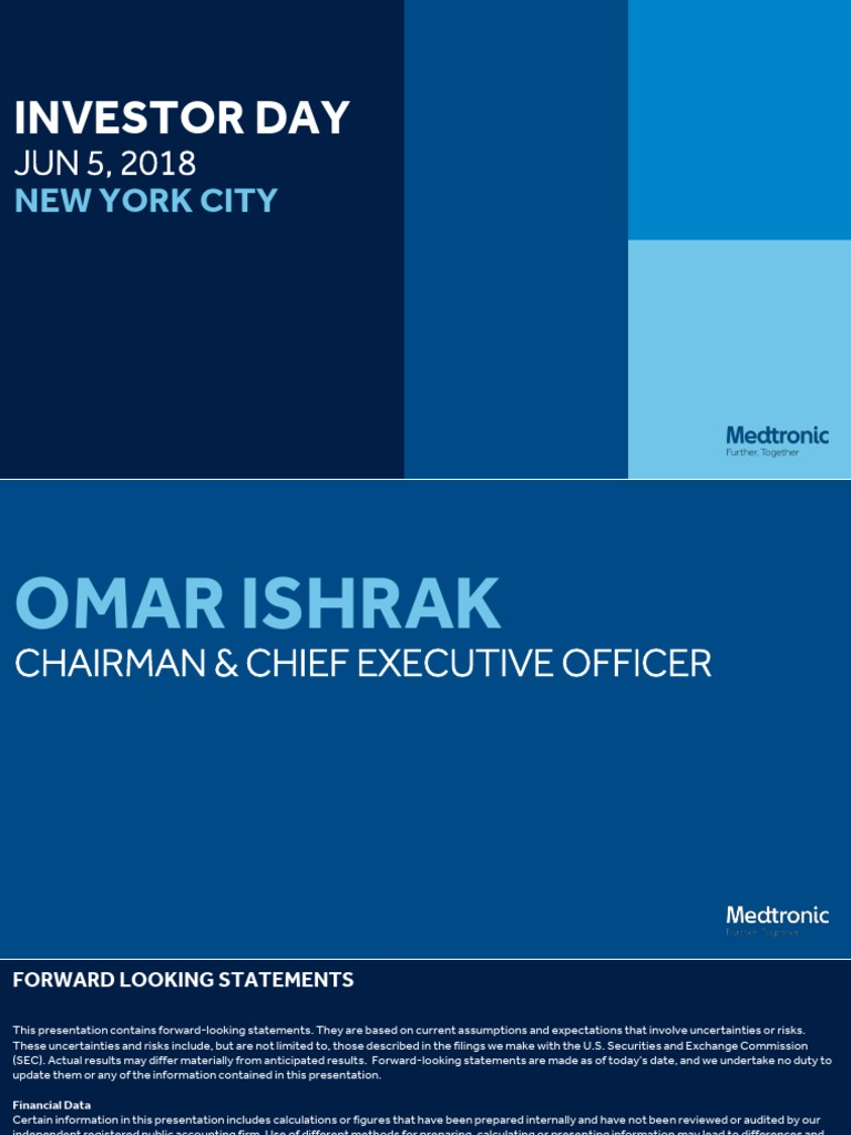 2018 Analyst Meeting Ishrak Introduction | U S  Securities