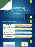 Características Lingüísticas de Múltiples Patologías