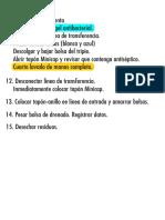 Procedimiento Dialisis parte 3
