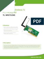 TL-WN751ND V1 Datasheet