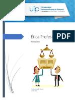 Ética Profesional Portafolio