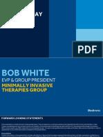 2018 Medtronic Analyst Meeting MITG - White