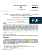 SPECO a Systematic and General Methodology for Calculating Efficiencies and Costs in Thermal Systems_1-s2.0-S0360544205000630-Main
