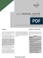 2016 VersaNote Owner Manual