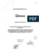 TdR ED Implementación Celda Línea 60 KV Deriv SET Loma Larga