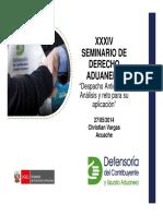 Derecho Aduanero 2014