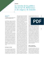 Dimension Exterior La dimensión exterior de la política de inmigración de la UE. Relaciones con los países de origen y de tránsito