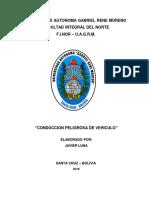 Conduccion Peligrosa de Vehiculo Monografia