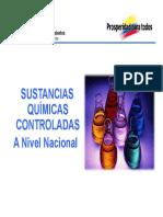 Sustancias Controladas a Nivel Nacional
