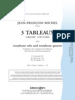 Michel Jean Francois Trois Tableaux