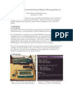 Design of a Microcontroller-Based Ethernet Messaging Device