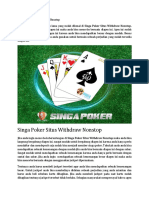 Singa Poker Situs Withdraw Nonstop.docx