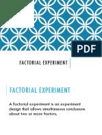 Factorial Experiment