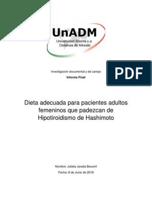 Hipotiroidismo subclínico alimentos recomendados