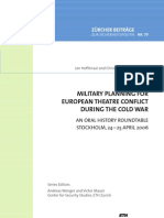 Military Planning for European Theatre Conflict in the Cold War