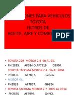 Aplicaciones Para Vehiculos Toyota