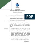 Perka BIG No. 6 Tahun 2014 Tentang Tata Cara Konsultasi Peta Rencana Tata Ruang.pdf