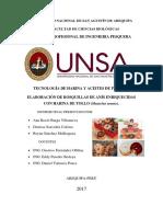 Elaboración de Rosquillas de Anís Enriquecidas Con Harina de Tollo Mustelus Mento.