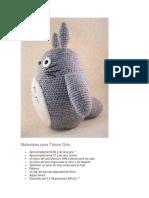 Patrón Totoro Gris