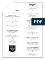 The Milling Room BRUNCH Menu