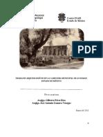 trabajos arqueológicos en la cabecera municipal de Acolman