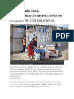 La Pobreza en Bolivia