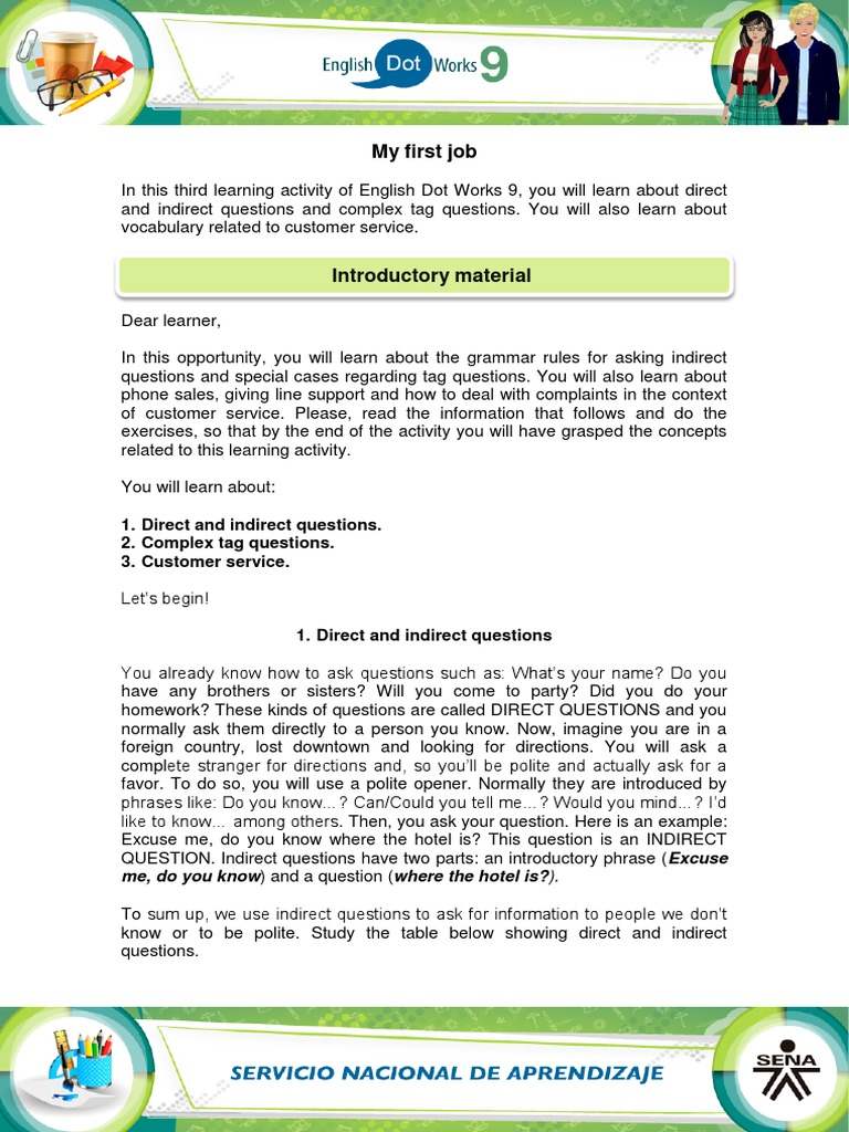 Material_My_first_job activity 3 pdf | Question | Persuasion