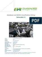CWIT D2 3 Database and WEEE Classification Listing