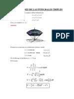 aplicaciones de las integrales triples