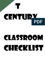 21 St Century Classroom Checklist