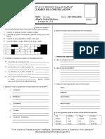 Examen I TRIMESTRE 2° de sec. COMUNICACIÓN BBF 2018