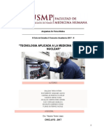 Tecnología Aplicada a La Medicina y Medicina Nuclear